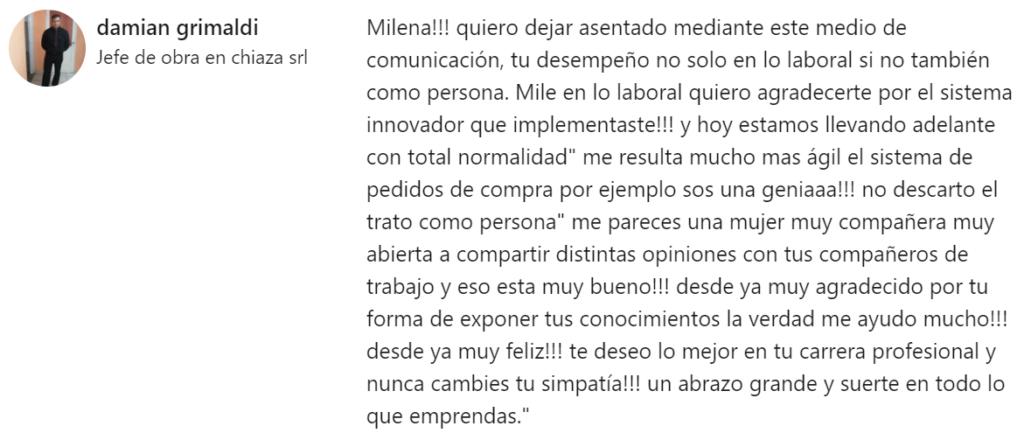 Testimonio Milena Masin
